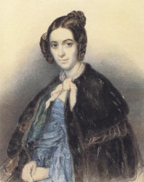 Варвара Репнина.(1845). Автор: Т.Шевченко